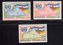 REPUBBLICA CENTRAFRICANA CENTRAFRICAINE CENTRAL AFRICAN REPUBLIC 1961 ADMISSION TO ON ONU COMPLETE SET SERIE MNH - Repubblica Centroafricana