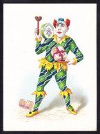 CHROMO Chocolat SUCHARD   +/- 1890         Serie 15   Clowns      Trade Card - Suchard