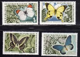 REPUBBLICA CENTRAFRICANA CENTRAFRICAINE CENTRAL AFRICAN REPUBLIC 1963 BUTTERFLIES PAPILLONS FARFALLE FULL SET SERIE MNH - Repubblica Centroafricana