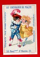 Paris, Au Chevalier De Malte, Jolie Chromo Lith. Mertens, Couple, La Danse - Chromo