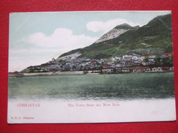 """GIBRALTAR - """" THE TOWN FROM THE NEW MOLE """" - //// CARTE PIONNIERE /// - Gibraltar"""