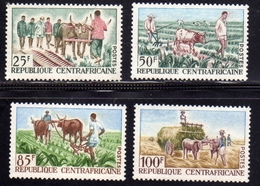 REPUBBLICA CENTRAFRICANA CENTRAFRICAINE CENTRAL AFRICAN REPUBLIC 1965 AGRICULTURE AGRICOLTURA FULL SET SERIE MNH - Repubblica Centroafricana