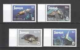 L475 2016 SAMOA WWF FAUNA REPTILES MARINE LIFE HAWKSBILL TURTLES 1SET MNH - W.W.F.