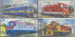 Ukraine 1091-1094 (complete Issue) Unmounted Mint / Never Hinged 2010 Locomotives - Ukraine