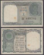 India 1 Rupee ND 1949 (VF++) Condition Banknote Menon P-71a ### - India