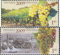 Ukraine 1059-1060 (complete Issue) Unmounted Mint / Never Hinged 2009 Viticulture - Ukraine