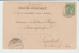 "INDOCHINE : "" SAÏGON CENTRAL / COCHINCHINE"" CàD Type A2 / CPA D'ANGKOR De 1900 Pour Allemagne TB - Indochine (1889-1945)"