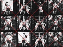 PIN UP WOMEN FEMMES MAN HOMME SEXY Couple TRIO S NUDE NU AKT In Underwear En Sous-vêtements 24x18cm Photo STRIP 70 Gay I - Pin-up