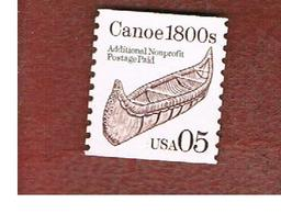 STATI UNITI (U.S.A.) - SG 2487  - 1991 CANOE (PRECANCELED NON PROFIT)  - USED - Etats-Unis