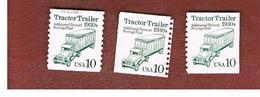 STATI UNITI (U.S.A.) - SG 2486  - 1991 TRACTOR TRAILER (PRECANCELED PRESORT) 3 DIFFERENT PERFORATIONS  - USED - Etats-Unis