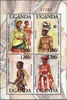 UGANDA, 2003, CULTURAL DRESSES OF EAST AFRICA, YV#B.355, SS, MNH - Uganda (1962-...)