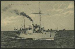 ALTE POSTKARTEN - SCHIFFE KAISERL. MARINE BIS 1918 S.M. Vermessungsfahrzeug Möwe, Eine Gebrauchte Feldpostkarte - Warships