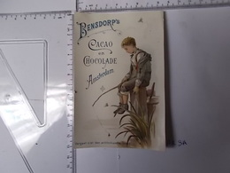 Chromo Cacao Bensdorp's-jeune Pêcheur Photo Recto/verso - Chocolat