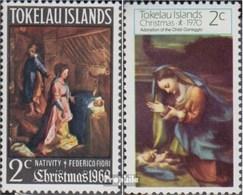 Tokelau 13,14 (kompl.Ausg.) Postfrisch 1969/70 Weihnachten - Tokelau