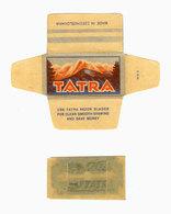 RAZOR BLADE IN WRAPPER :: TATRA Czechoslovakia / Lametta Da Barba, Hoja De Afeitar, Rasierklingen - Lames De Rasoir