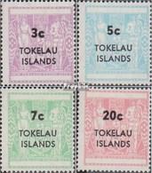Tokelau S4-S7 (kompl.Ausg.) Postfrisch 1967 Stempelmarken - Tokelau