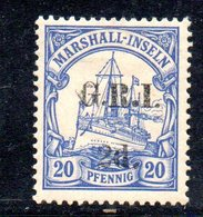 XP4414 - MARSHALL 1914 ,  Yvert 29 Nuovo  *  (2380A) . Occupazione Britannica GRI - Colonie: Marshall
