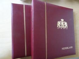2 Schaubek Schraubdecken Aufdruck Nederland Gold (10201) - Alben & Binder