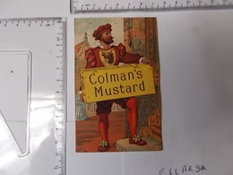 Chromo COLMAN'S MUSTARD Moutarde Anglaise Manufacturers To The Queen Photo Recto/verso - Chromos