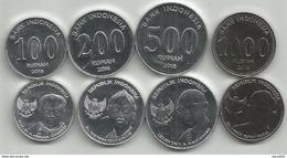 Indonesia 100 - 200 - 500 - 1000 Rupiah 2016. UNC Set - Indonésie