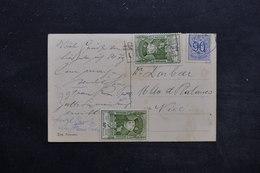 BELGIQUE - Affranchissement De Spa Sur Carte Postale Pour La France - L 25564 - Belgium