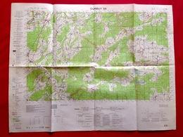 CARTE ETAT-MAJOR DURBUY Mesure1924 LIERNEUX HOTTON RENDEUX EREZEE MANHAY MARCOURT DOCHAMPS SAMREE BIHAIN MONTLEBAN S462 - Cartes Topographiques