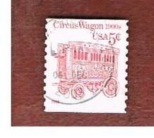 STATI UNITI (U.S.A.) - SG 2484 - 1995 TRANSPORT: CIRCUS WAGON 5c - USED - Verenigde Staten