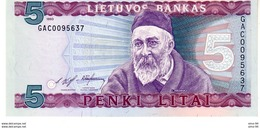 Lithuania P.55 5 Litai 1993 Unc - Litauen