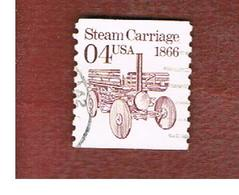 STATI UNITI (U.S.A.) - SG 2477 - 1991 TRANSPORT: STEAM CARRIAGE  - USED - Used Stamps
