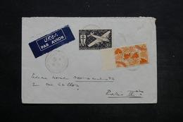 CÔTE DES SOMALIS - Enveloppe De Djibouti Pour Paris En 1946 , Affranchissement Plaisant - L 25568 - Côte Française Des Somalis (1894-1967)