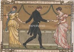 Christmas Card  Ladies Chain Dancing Walter Crane   Egc341 - Old Paper
