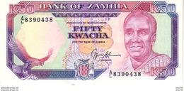 Zambia P.33b 50 Kwacha 1989 Unc - Zambia