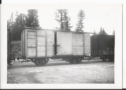 Photo - Thème Chemin De Fer  -Ligne Nyons Morez - Gare Des Rousses En 1954 - Wagon - Trains