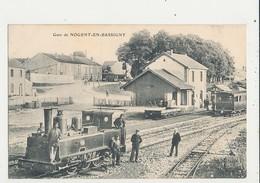 52 NOGENT EN BASSIGNY GARE AVEC TRAIN CPA BON ETAT - Gares - Avec Trains