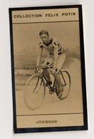 Collection Felix Potin - 1898 - REAL PHOTO - Johnson, Coureur Vèlocipédique (Cyclisme) - Félix Potin