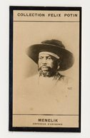 Collection Felix Potin - 1898 - REAL PHOTO - Menelik II, Empereur D'Abyssinie, Éthiopie,  Emperor Of Ethiopia - Félix Potin