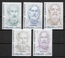 """GREECE 2019 First Issue """"Ancient Greek Literature"""".Horizontally Imperforate Complete Set MNH LUX - Grèce"""