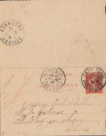 France Postal Stationery Ganzsache (315) 10c. Semeuse Carte-Lettre FRANCHEVAL Ardennes 1913 ATTIGNEY Ardennes (2 Scans) - Ganzsachen