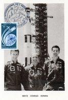 Carte 1er Jour Apollo -skylab (25-5--1973)- Paul Weitz Charles Conrad Joseph Kerwin. - Espace