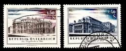 Autriche 1955 Mi.Nr: 1020-1021 Wiedereröffnung Des...  Oblitèré / Used / Gebruikt - 1945-.... 2ème République