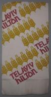 ISRAEL HOTEL GUEST REST HOUSE HILTON TEL AVIV VINTAGE PAPER PLACEMAT NAPKIN SERVIETTE COASTER ADVERTISING - Advertising