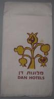 ISRAEL HOTEL GUEST REST HOUSE DAN CHAIN TEL AVIV VINTAGE PAPER PLACEMAT NAPKIN SERVIETTE COASTER ADVERTISING - Advertising