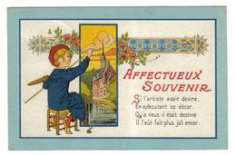 Affectueux Souvenir Jeune Peintre Palette Pinceaux En 1939 Pour Ceux Qu'on Oublie Pas Editions Hérald N°7108 - Ilustradores & Fotógrafos