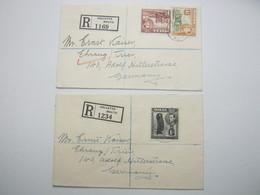 MALTA , 2 Einschreiben 1939 - Malta