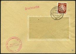 DIENSTMARKEN A D 3 BRIEF, 5.10.1954, 8 Pf. Braunorange, Einzelfrankatur Auf Drucksache Der Staatlichen Zentralversicheru - Dienstpost