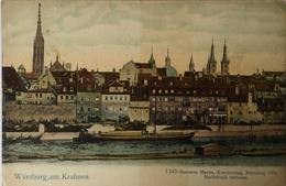 Wurzburg // Am Krahnen (litho)(Schiff) Ca 1899 - Wuerzburg