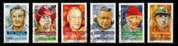 France 2000 : Timbres Yvert & Tellier N° 3342 - 3343 - 3344 - 3345 - 3346 Et 3347 (+ Vignette Séparée Offerte) Avec Obl. - Frankreich