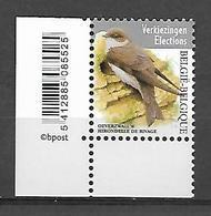 Belg. 2019 - COB N° 4840 ** - Hirondelle De Rivage (timbre Elections) - Bélgica