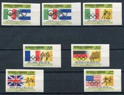 1968 - HONDURAS - OLYMPIC'S MEXICO -RARE IMPERF. =  7  VAL.-M.N.H.-LUXE !! - Honduras
