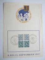 1947 , Zusammendruck Auf Sonderblatt Leipzig - Sowjetische Zone (SBZ)